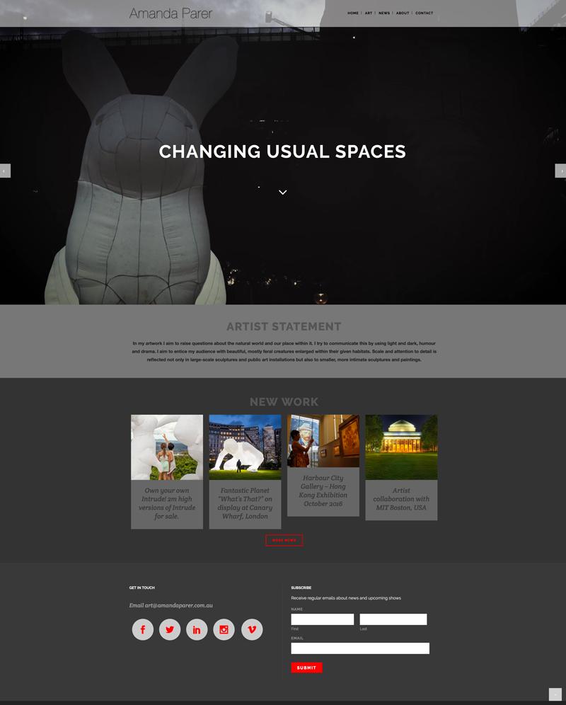 Amanda-Parer-wordpress-website