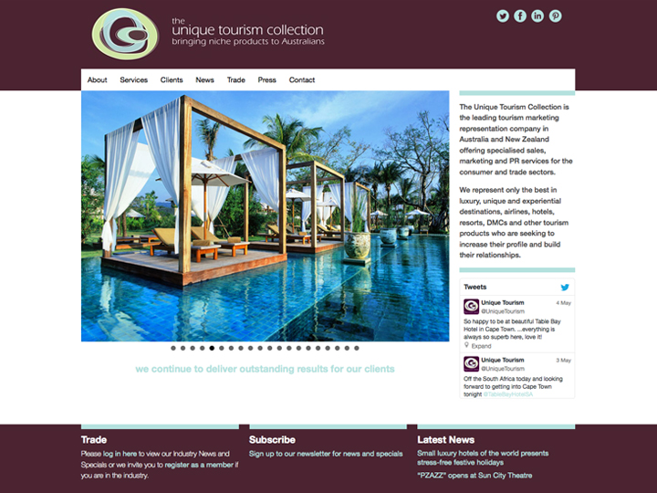 Unique Tourism Collection website